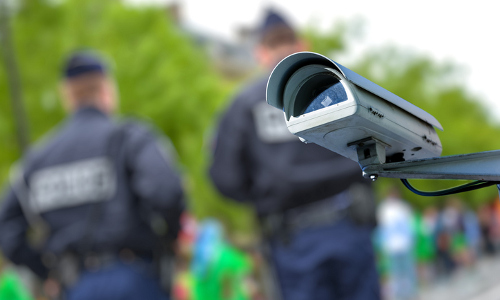 police and security camera
